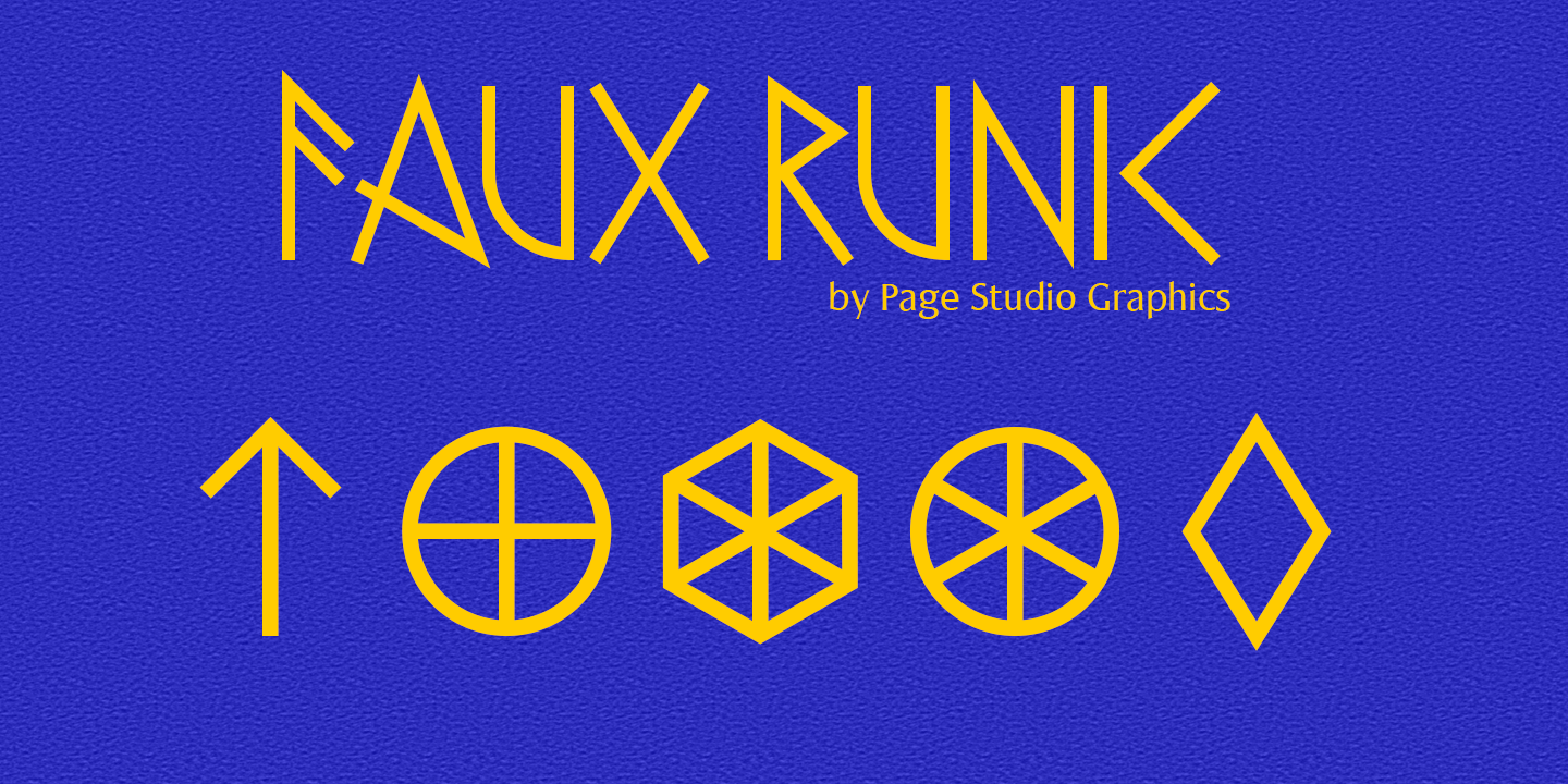 Faux Runic Poster 1